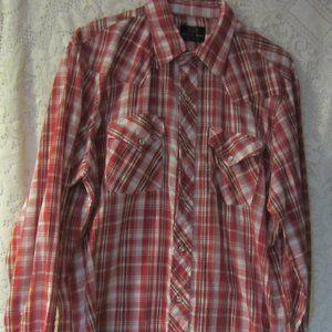 Vintage red  western pearl snaps shirt